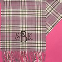 100 cashmere scarf pastel sherbet birdseye plaid. Black Bedroom Furniture Sets. Home Design Ideas