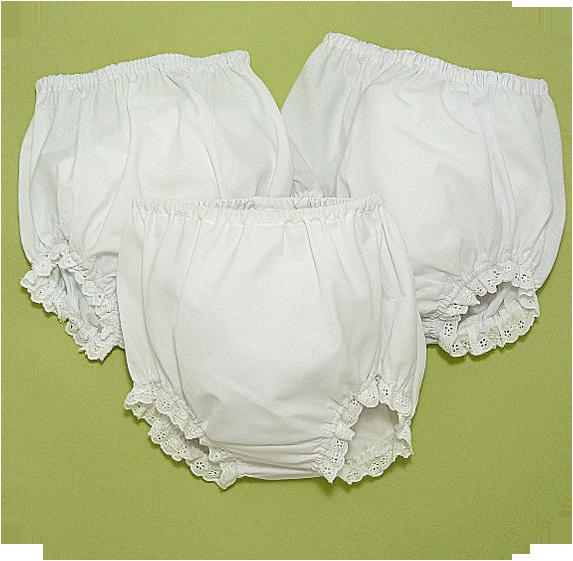 White Eyelet Diaper Cover Panty