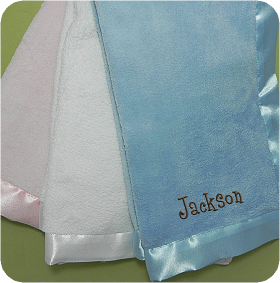 satin trim ultra soft baby blanket