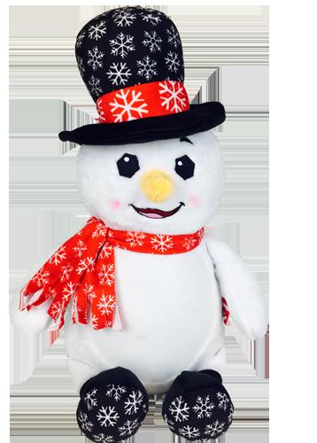 cubbies snowman with black hat cubby stuffie