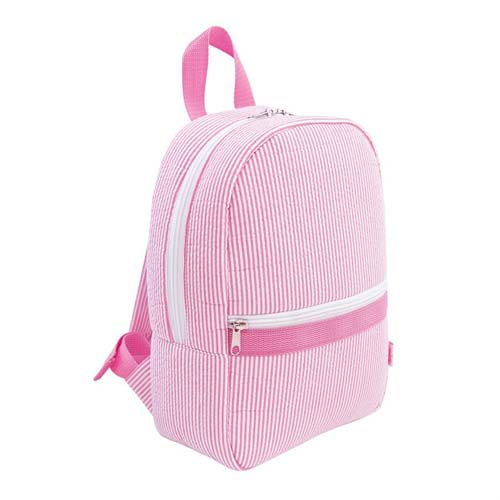 Toddler Backpack Pink Seersucker Stripe