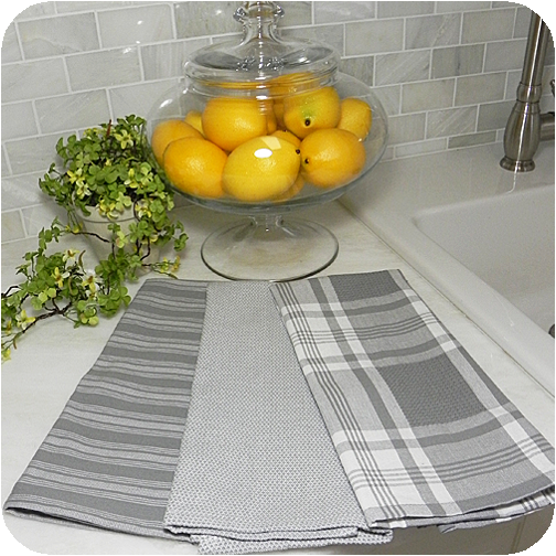 granite gray kitchen towels