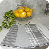 Granite Gray Kitchen Towel Collection