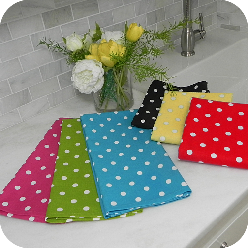 Polka Dot Cotton Kitchen Towel