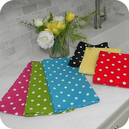 Polka Dot Cotton Kitchen Towel