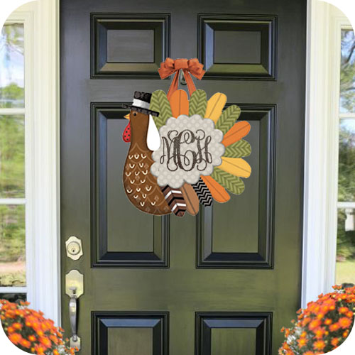 Whimsical Turkey Door Decor