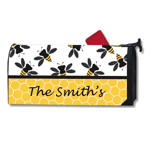 Bees Mailbox Cover