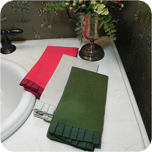 Pleated Ruffle Fingertip Towels
