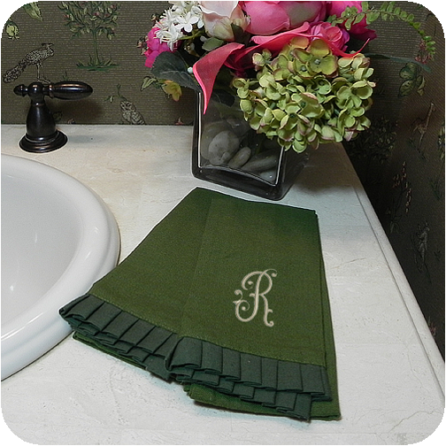 pleated ruffle fingertip towels - Fingertip Towels