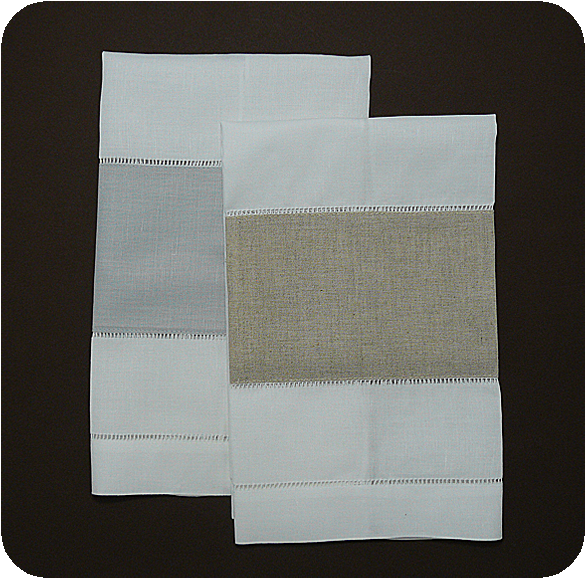Cheap Guest Towels: Linen Inset Guest Towel