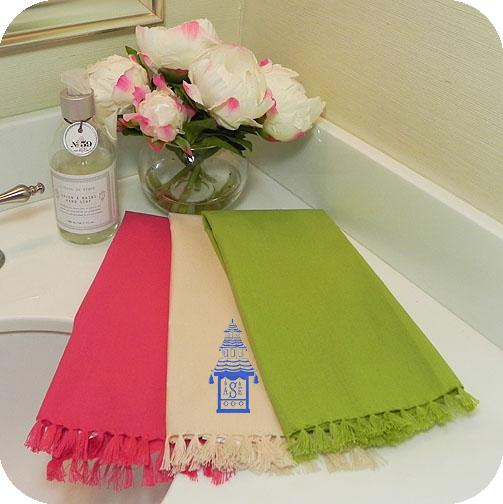 cotton fringe guest towels