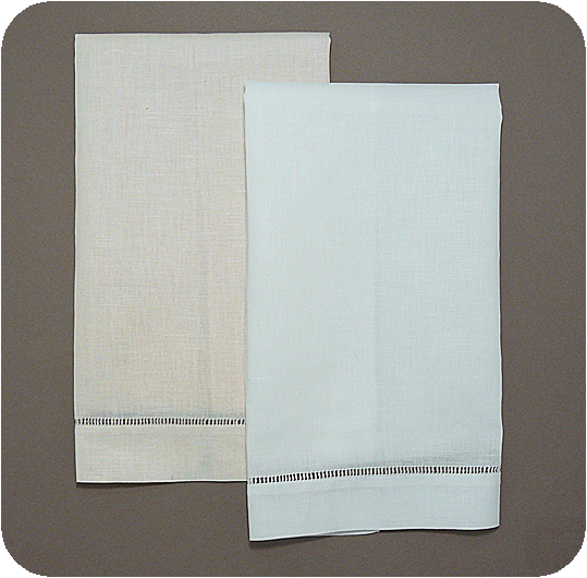 Blank Towel: Hemstitched Guest Towels