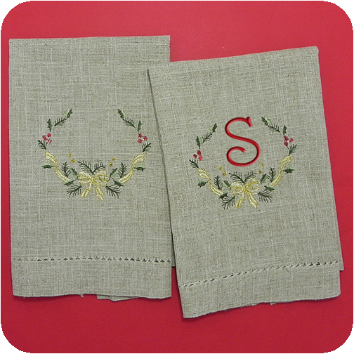 easy care holiday guest towel