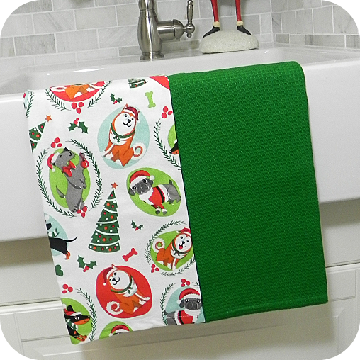 Christmas Dogs Kitchen Towels Set