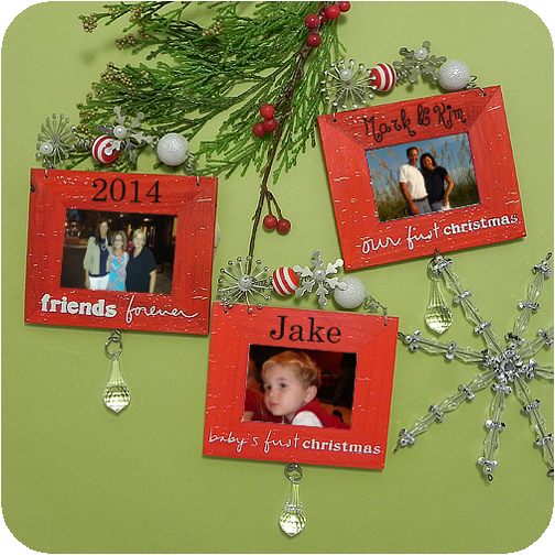 Christmas Tree Shop Picture Frames: Wooden Picture Frame Christmas Tree Ornaments