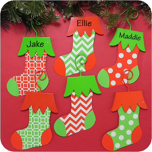 stocking shaped metal christmas ornaments - Metal Christmas Ornaments