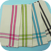 Border Stripe Brights Kitchen Tea Towels