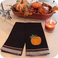 Halloween Dobby Border Kitchen Towel