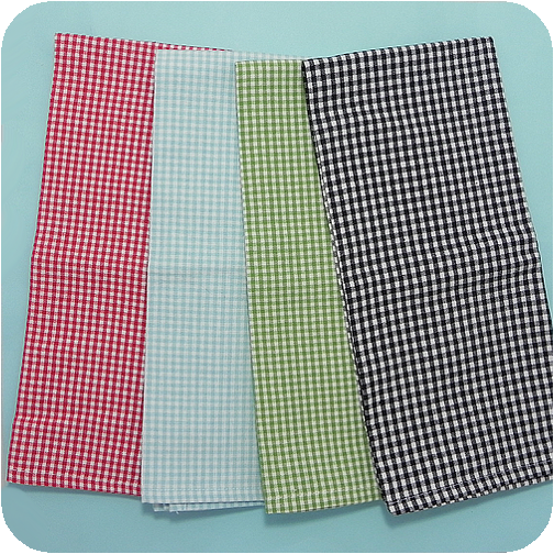 Luxury Christmas Kitchen Towels: Mini Check Kitchen Tea Towels