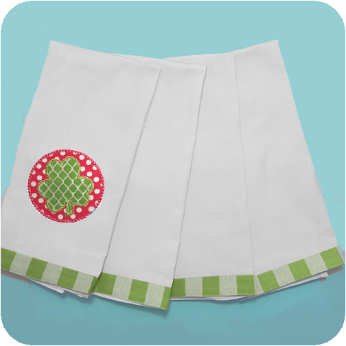 St Patrick S Day Vintage Gingham Trim Kitchen Towel