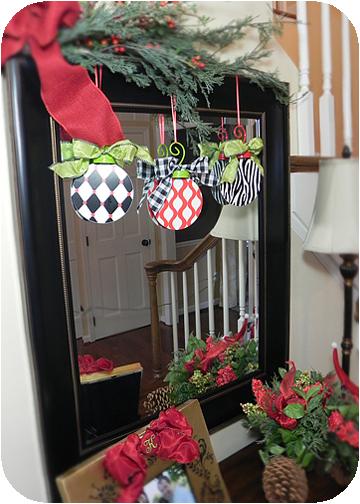 Flat metal whimsy christmas ornaments