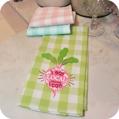 Pastel Buffalo Check Kitchen Towels