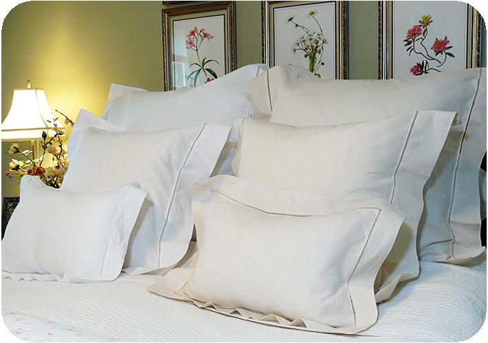 basic hemstitched pillow. Black Bedroom Furniture Sets. Home Design Ideas